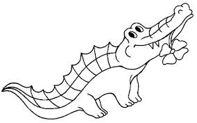 Small Picture Awesome Alligator Clip Art Coloring Pages Pictures Coloring Page