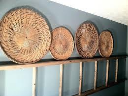 wicker wall decor set of 4 wall decor beautiful woven wicker wall decor round set of
