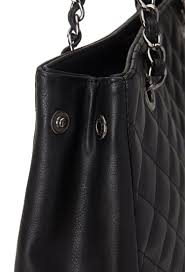 Forever 21 Quilted Faux Leather Tote in Black | Lyst & Gallery Adamdwight.com