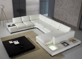 vig modern leather sectional attractive and comfy u shaped leather sectional