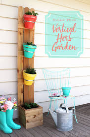 the craft patch make your own cedar fencing and terra cotta pot vertical herb planter