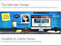 Desktop Timeline Cover Template 4 Facebook Download Free