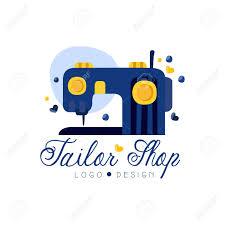 Fashion Designer Logo Design Tailor Shop Logo Design Emblem With Sewing Machine Fashion