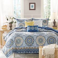 yellow and blue comforter set madison park tangiers moroccan coverlet the home 16