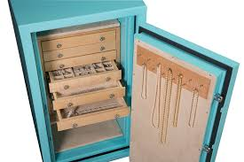 yes jewelry box blue jewelry safe