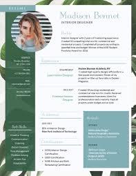 Artistic Resume Template Interior Design Resume Template Visme
