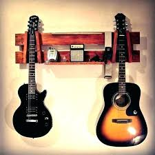 wall mounting guitar horizontal guitar wall mount display rack wood stand made recycling bass case wall