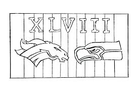 Broncos Football Coloring Pages Broncos Logo Coloring Page Broncos