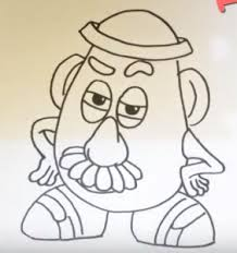 mr potato head drawing. Interesting Head How To Draw Mr Potato Head From Toy Story Throughout Mr Potato Head Drawing D