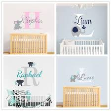 joyreside custom personalized name color baby elephant wall decal vinyl sticker for kid boy girls room nursery decoration xy001 q190426 wall art stickers