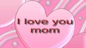Words I Love You Mom In Pink Heart HD ...