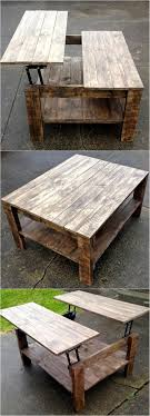 high coffee tables storage space vurni intended brown table pallet coffeetable with gorgeous 14