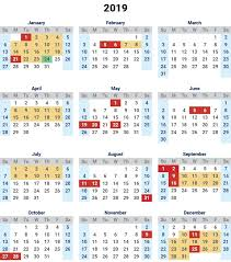 Printable School Year Calendars Free Printable School Holidays 2019 Calendar Malaysia