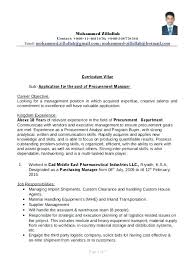 Procurement Resume Format Procurement Procurement Manager Resume