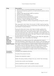 Bid Comparison Template Evaluation Report Writing Sample Format ...