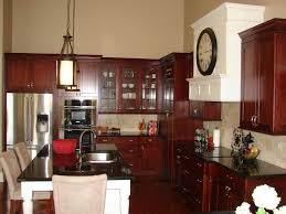 Image of: cherry-kitchen-cabinets-and-island