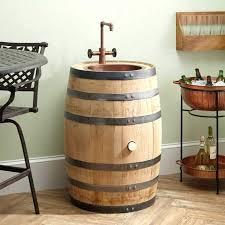 whiskey barrel sink kitchen for bathroom images