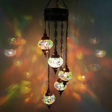 Authentisch Turkish Deckenlampe Lampe Hängend Mosaik Glas