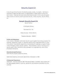 Sample Resume For Security Guard Security Guard Resumes Emailers Co
