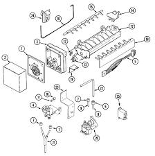 Wiring diagram maytag ice maker refrence maytag model msd2757deq side by side refrigerator genuine parts