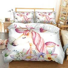 animal duvet covers unicorn bedding set twin full queen king super double size cover quilt bed