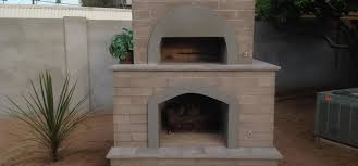 brick pizza oven fireplace
