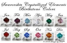Swarovski Crystal Birthstone Chart Designs By Debi Handmade Jewelry Swarovski Crystal Birthstones