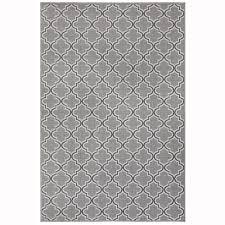 garden treasures greige trellis gray rectangular machine made area rug common 8 x