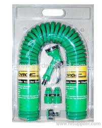 coil garden hose. 15M Garden Coil Hose With 4-Pattern Trigger Nozzle