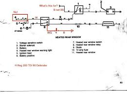 land rover heated windscreen wiring diagram land wiring land rover 90 200 tdi heated rear window wiring diagram