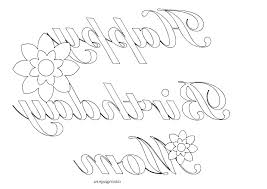Birthday Coloring Pages Free Special Offer Happy Printable Mom