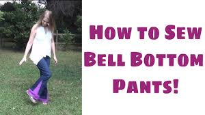 how to make bell bottom pants easy sewing tutorial with leah day you