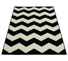 black and white rug. chevron rug - 160x230cm black and white549/2321 white l