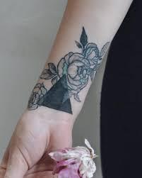 Black Triangle And Rose Tattoo Tattoogridnet