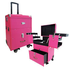 makeup case trolley cosmetic nail storage box luge with wheels pi