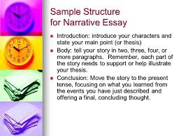 narration essay a sample structure ppt video online  sample structure for narrative essay