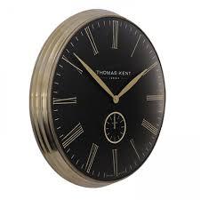 oversized wall clock 28 inch brass