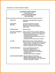 Cv Format For Teacher Job Sample Resume For Teaching Job Fresher