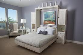 hampton style wallbed in white finish