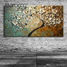 2019 textured hand painted flower trees abstract oil painting modern home decoration from chinaart2016 43 22 dhgate com