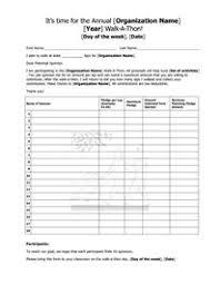Fundraiser Pledge Form Template Walk A Thon Pledge Form Fundraisers Leadership Activities Pta