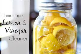 Homemade Lemon Vinegar Cleaner - This DIY natural cleaner, using every day  ingredients, is
