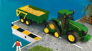 unique rc tractor john deere bruder toys farm corn transport