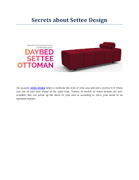 Settee Designs Ppt Secrets About Settee Design Powerpoint Presentation