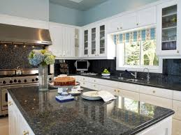 Kitchen  Awesome Kitchen Design With White Ceiling Lighting And - White granite kitchen