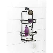 zenna home aluminum shower caddy oil rubbed br target