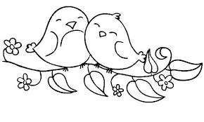This option is good for easter since the bunny is holding an egg in cute baby rabbit template. Cute Birds Coloring Pages