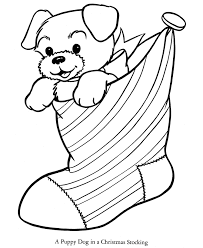 Bible Printables Santa Christmas Coloring Pages Stocking Puppy