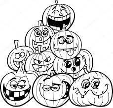 Kleurplaten Halloween Pompoen
