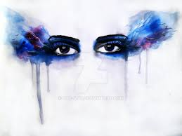 quick water color painting of eyes by alb art